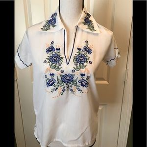 Adorable embroidered top from Mexico, S or size 4